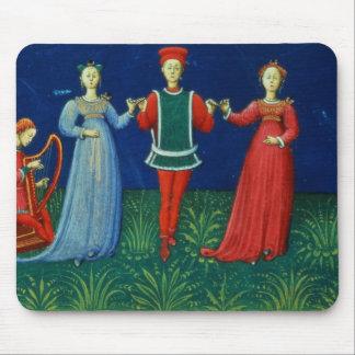 それ973 f.21v 2人の女性との紳士の踊り、 マウスパッド