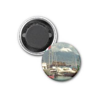 それ-イタリア-ナポリ- Vesuvius港の眺めの… マグネット