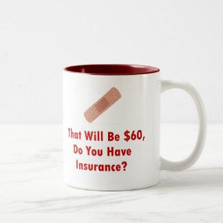 それ$60は、持っています保険をありますか。 ツートーンマグカップ