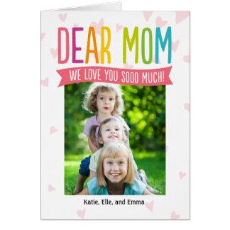 そんなにお母さんのための愛母の日の写真カード ノートカード
