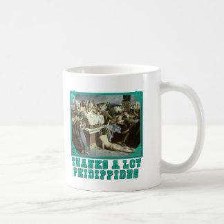 たくさんありがとうのPhidippidesのおもしろいなマラソンのティー コーヒーマグカップ