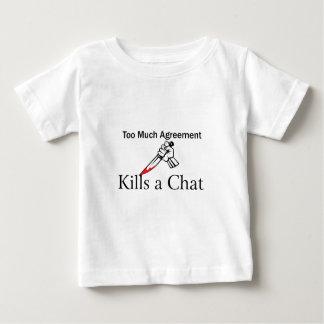 たくさんの一致は雑談を殺します ベビーTシャツ