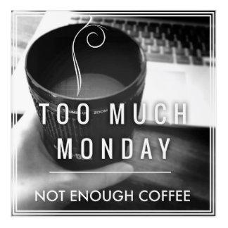 たくさんの月曜日ない十分なコーヒー アクリルウォールアート