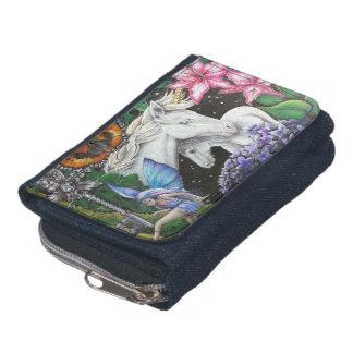 たそがれのファンタジーのデニムの硬貨の財布か財布
