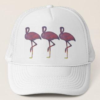 たそがれのフラミンゴの様式化された日没の帽子 キャップ