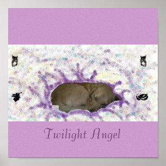 たそがれの天使のキャンバス ポスター