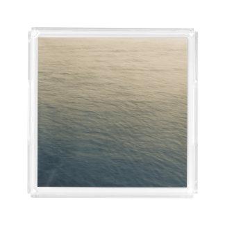 たそがれの穏やかな水 アクリルトレー