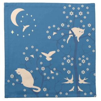 たそがれの雄猫の布のナプキン ナプキンクロス