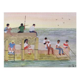 たそがれの魚釣り1988年 ポストカード