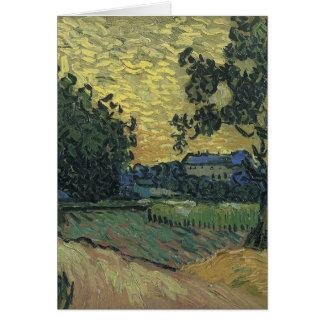 たそがれ1890年のゴッホの景色 カード