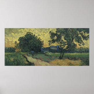 たそがれ1890年のゴッホの景色 ポスター
