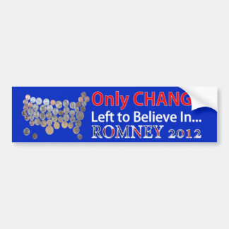ただミット・ロムニー2012年で信じるために左変えて下さい バンパーステッカー