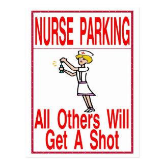 ただ駐車しているナース ポストカード