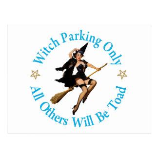ただ駐車している魔法使い-他はヒキガエルです ポストカード