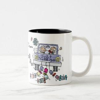 たった今結婚しましたのマグ-カスタマイズ ツートーンマグカップ