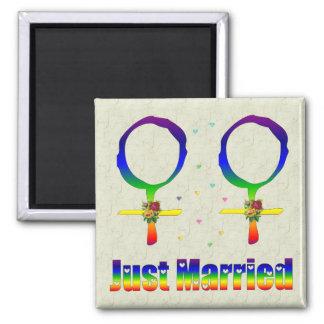 たった今結婚しましたのレズビアン マグネット