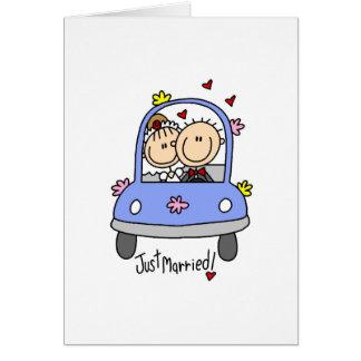 たった今結婚しましたカード グリーティングカード