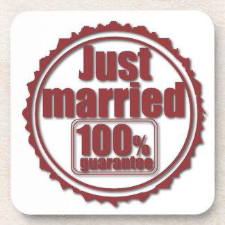 たった今結婚しました100%の保証のコースター ビバレッジコースター