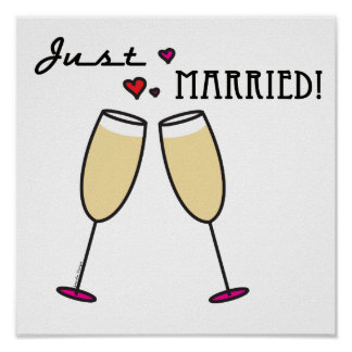たった今結婚しました ポスター