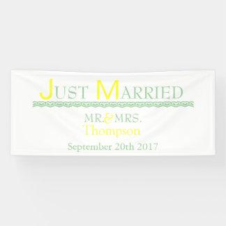 たった今結婚しました 横断幕