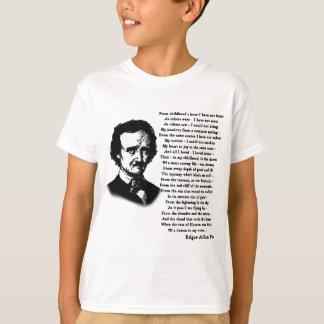 だけエドガー・アラン・ポーの詩 Tシャツ