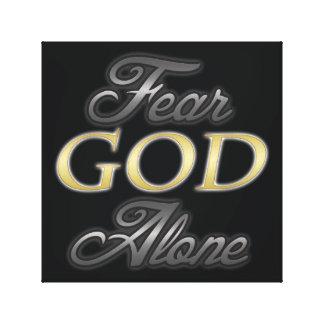 だけ恐れの神 キャンバスプリント