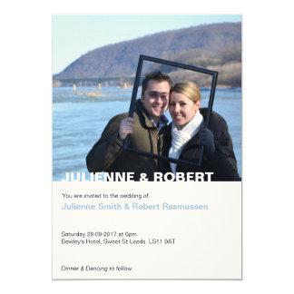 だけ|のモダンな写真の結婚式招待状 カード