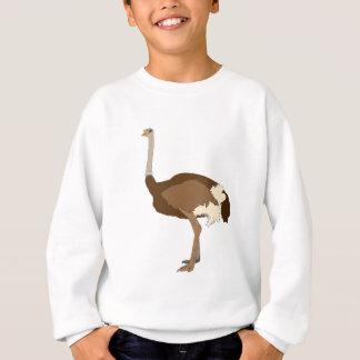 だちょうのスケッチ-野生の鳥 スウェットシャツ