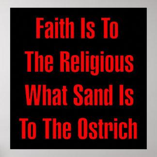 だちょうの宗教 ポスター