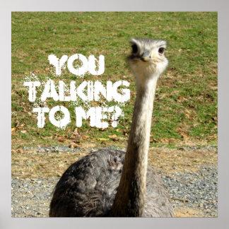 だちょう私に話しているか。 ポスター