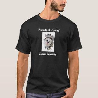 だめにされたアラスカンマラミュートのTシャツの特性 Tシャツ
