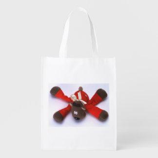 だらしないクリスマスのアメリカヘラジカ エコバッグ