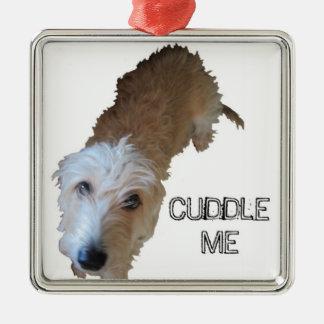 """だらしない犬は""""私を""""オーナメント抱きしめます メタルオーナメント"""