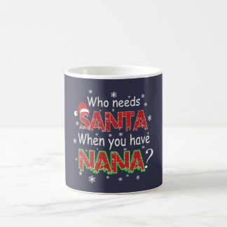 だれがサンタを必要とするか コーヒーマグカップ