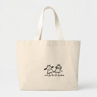 だれがバッグを必要としますか。 ラージトートバッグ
