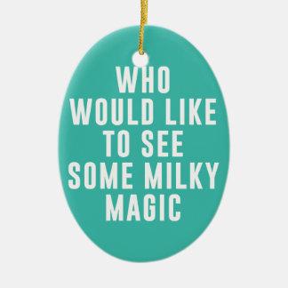 だれが乳白色の魔法を見るべきを望むか セラミックオーナメント