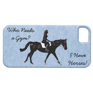 だれが体育館を必要としますか。 おもしろいの馬 iPhone SE/5/5s ケース