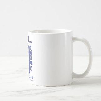 だれが勝ったか井戸…か。 青 コーヒーマグカップ
