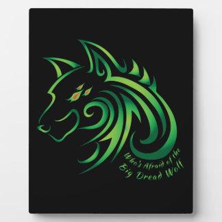 だれが大きい恐怖のオオカミを恐れているか フォトプラーク