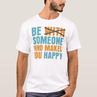 だれが幸せに作るか Tシャツ