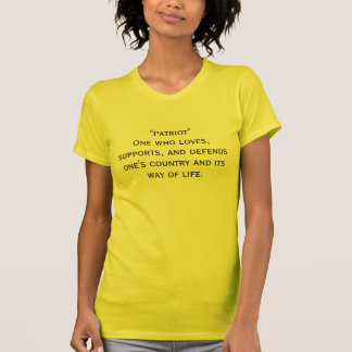 """""""だれが愛するか                    愛国者""""者、一口… Tシャツ"""
