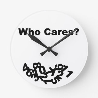 だれが気になりますか。 ラウンド壁時計