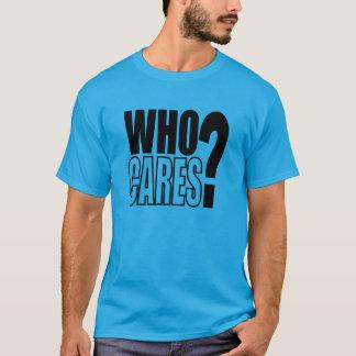だれが気になりますか。 私はやめます! (点検) Tシャツ