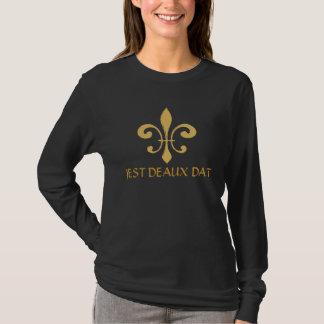 だれその(紋章の)フラ・ダ・リ、冗談DEAUX DATか Tシャツ