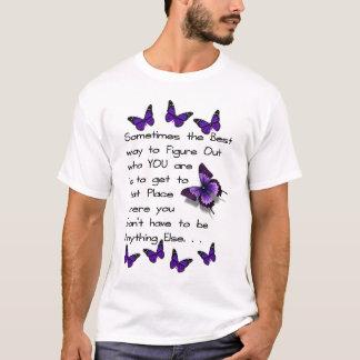 だれであるか把握して下さい Tシャツ