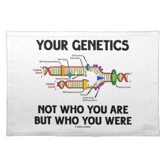 だれであるが、だれあったかあなたの遺伝学ない ランチョンマット