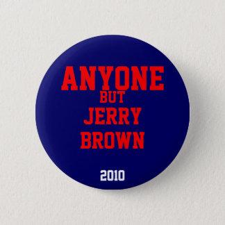だれでもしかしジェリーブラウン2010年 5.7CM 丸型バッジ