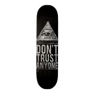 だれでも信頼しないで下さい スケートボード