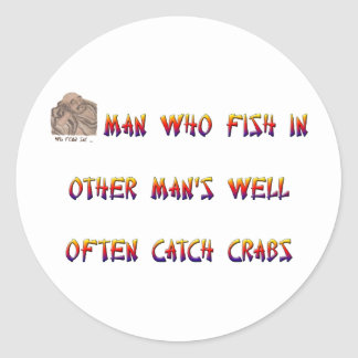 だれに他の人の井戸の魚が頻繁にカニをつかまえるか人を配置して下さい ラウンドシール