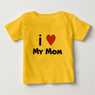 だれに愛かIハート私のお母さん[文字をカスタマイズ] ベビーTシャツ